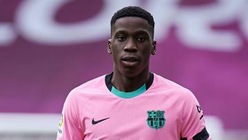 Ilaix Moriba avec le FC Barcelone cette saison
