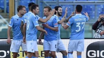 La festa della Lazio dopo l'1-0 alla Samp