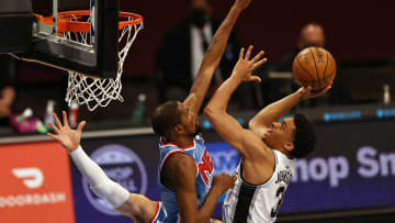 Keldon Johnson - San Antonio Spurs v Brooklyn Nets
