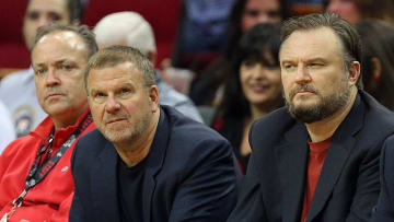 Houston Rockets owner Tilman Fertitta and general manager Daryl Morey