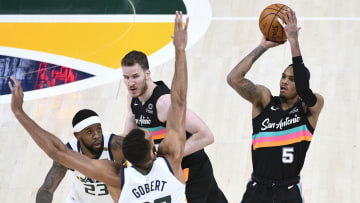 Dejounte Murray - San Antonio Spurs v Utah Jazz