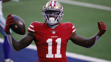 Kyle Shanahan sends a warning to wide receiver Brandon Aiyuk about his playing time.