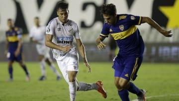 Boca y Santos en la última Copa