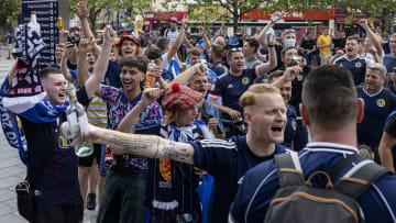 Les supporters écossais, à quelques heures avant d'affronter l'Angleterre