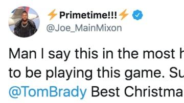 New England Patriots quarterback Tom Brady sent Bengals RB Joe Mixon a jersey