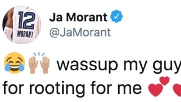 Ja Morant tweets at emotional fan