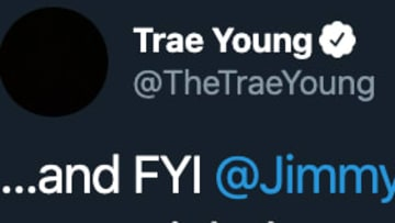Trae Young took aim at Jimmy Butler on Twitter after dropping 50 points on the Heat