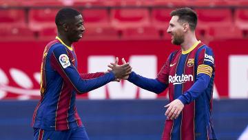 Dembele et Messi sont les deux buteurs de la rencontre.