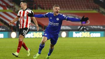 Jamie Vardy scored a last minute winner at Bramall Lane to beat Sheffield United last weekend