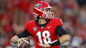 College football top-25 rankings by the odds to win the national championship.