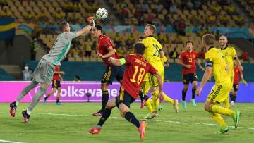 España debutó empatando ante Suecia