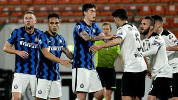 L'Inter in area contro lo Spezia