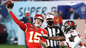 Super Bowl props: first turnover of Super Bowl LV is a Patrick Mahomes interception.