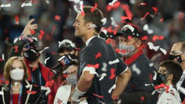 Tom Brady at Super Bowl LV.