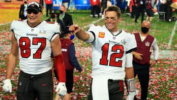 Rob Gronkowski, Tom Brady Super Bowl LV