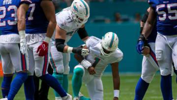 Tua Tagovailoa's injury is a bad sign for Miami. | BILL INGRAM / Palm Beach Post via Imagn