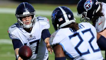Ryan Tannehill and Derrick Henry, Tennessee Titans v Jacksonville Jaguars