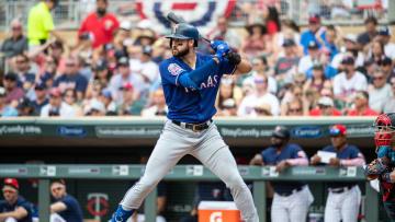 Texas Rangers outfielder Joey Gallo taking on the Minnesota Twins
