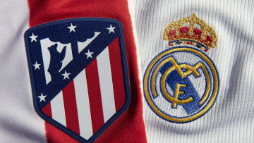 The Atlético Madrid and Real Madrid Club Badges