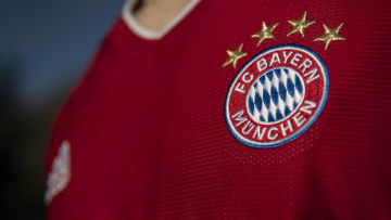 The Bayern Munich Badge on a Home Shirt