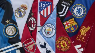 Avrupa Süper Ligi'ni kuran 12 takımın logoları
