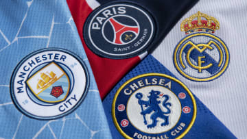 The Club Badges of the Four Champions League Semi Finalists