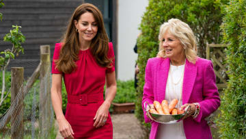 The Duchess Of Cambridge And Dr. Jill Biden Visit A Primary School In Cornwall