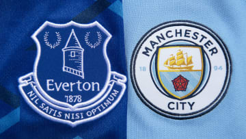 The Everton and Manchester City  Club Badges