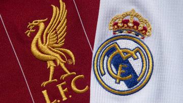 Gli stemmi di Liverpool e Real Madrid