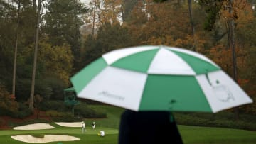 The Masters weather forecast doesn't call for any more rain today.
