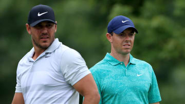 Brooks Koepka, Rory McIlroy at The Memorial Tournament - Round One