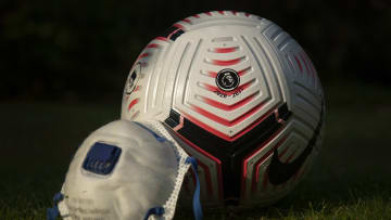 The Official Nike Premier League Match Ball and Protective Mask