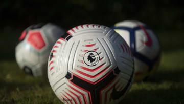 Ilustrasi logo & bola Liga Inggris