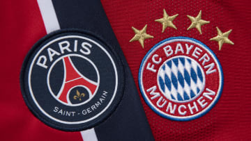 The Paris Saint-Germain and FC Bayern Munich Club Badges