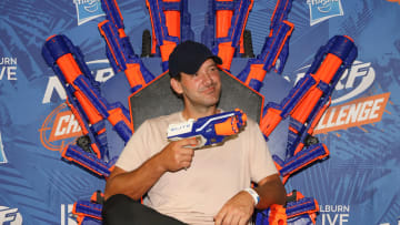 Tony Romo At NERF Challenge In Dallas