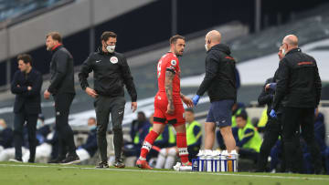 Danny Ings was forced off against Tottenham