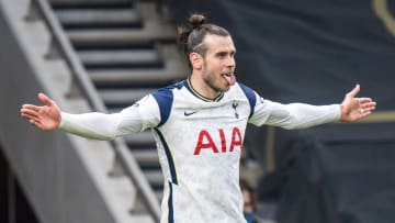Bale celebrating his strike on Wednesday
