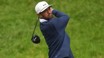 Tony Finau at the Travelers Championship - Round Two.