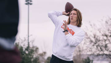 According to reports, Trevor Lawrence will be limited at Jaguars' rookie minicamp after undergoing shoulder surgery.