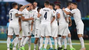 İtalya'nın gol sevinci