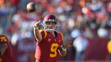 USC football quarterback Kedon Slovis.