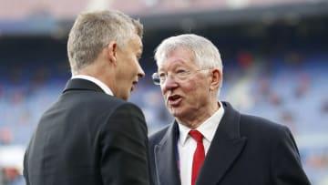 Sir Alex Ferguson im Gespräch mit Ole Gunnar Solskjaer