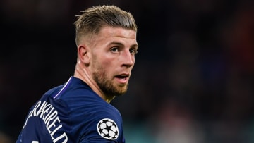 Toby Alderweireld in action against RB Leipzig in the Champions League