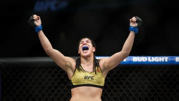 Ketlen Vieira vs Yana Kunitskaya UFC Vegas 19 women's bantamweight co-main event odds, prediction, fight info, stats, stream and betting insights.