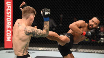 Kyler Phillips vs Raulian Paiva UFC Vegas 32 bantamweight bout odds, prediction, fight info, stats, stream and betting insights.