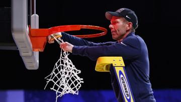Mark Few cuts down the net as Gonzaga heads to the Final Four again.