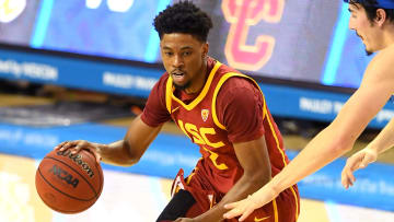 USC basketball's Tahj Eaddy.