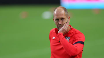 Gregg Berhalter during a United States Training Session