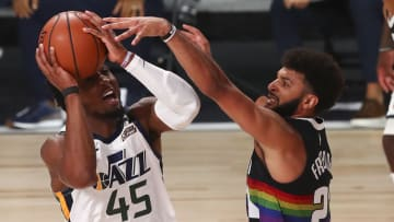 Donovan Mitchell and Jamal Murray, Utah Jazz v Denver Nuggets - Game Two