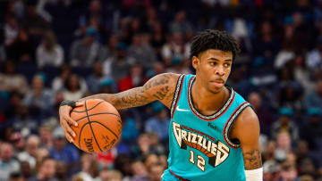 Ja Morant in Vancouver Grizzlies throwback jersey